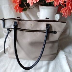 Kate Spade grey purse, 100% leather